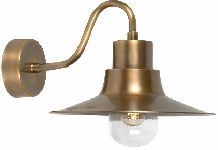 Elstead SHELDON BR Garden Wall Lantern in Brass Finish